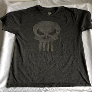 Marvels Punisher Skull Logo Tee
